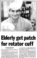 Elderly Get Patch for Rotator Cuff